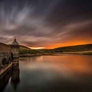 Criag Goch Dam Sunset