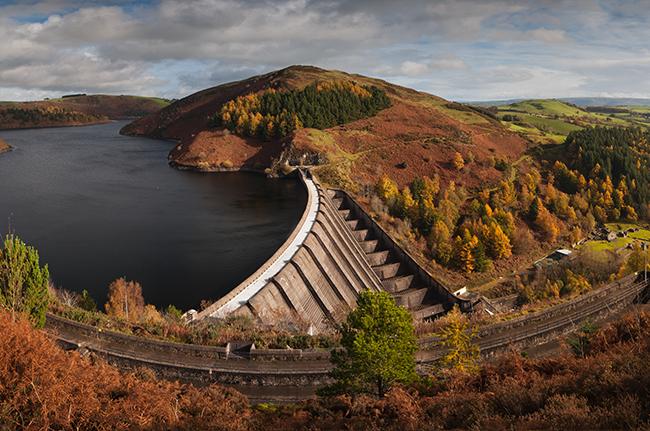 Llyn Clywedog Autumn Panorama