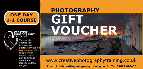 Photography Training Gift Voucher