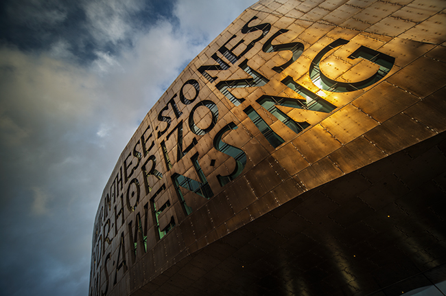 Wales Millennium Centre in Cardiff Bay