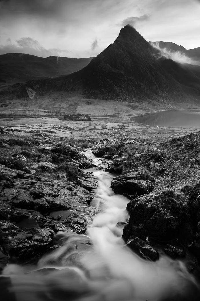 Image by Graeme Tozer. Tryfan from Afon Lloer, Snowdonia. Photography workshop with Nigel Forster