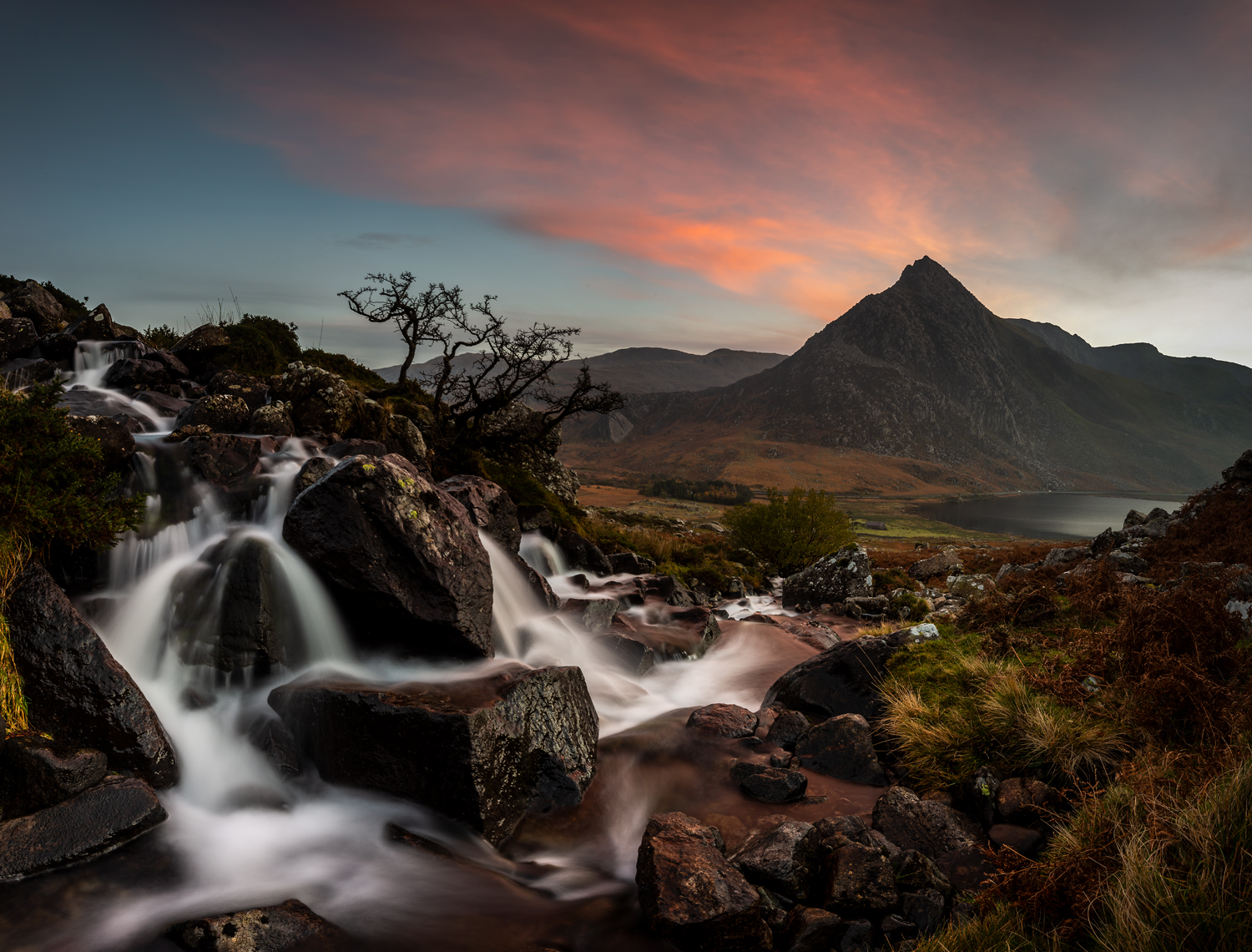 View to Tryfan from Afon Lloer, Snowdonia National Park. Photography workshops with Nigel Forster