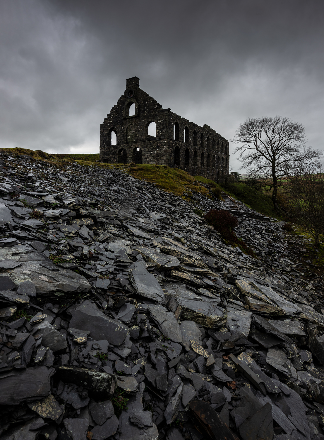 Ynyspandy Slate Mill, Snowdonia National Park. Photography Workshops with Nigel Forster