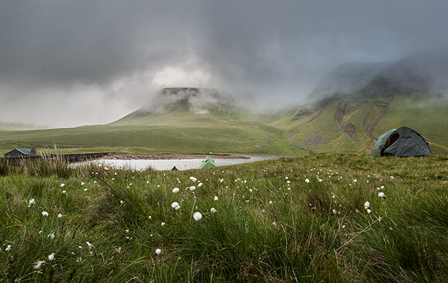 Wild Camping at Llyn y fan Fach in the Brecon Beacons